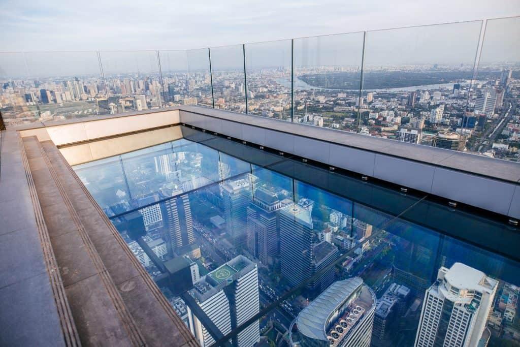 Expéricence du plateau en verre - King Power Mahanakhon - que faire en thailande