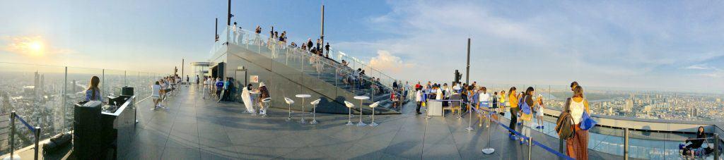 Vue à 360° sur le toit - King Power Mahanakhon