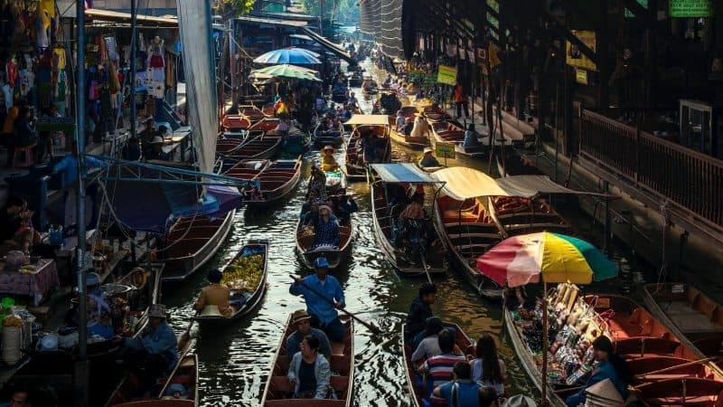 Marché flottant de Damnoen Saduak