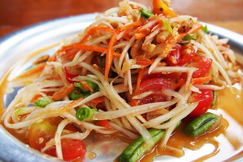 Som Tam - Les meilleurs plats thaïlandais en 2021 - Que faire en thailande