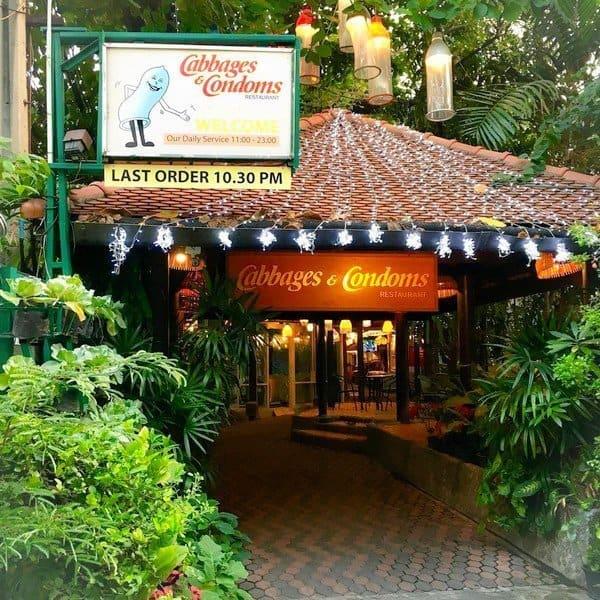 Entrée - Cabbages et Condom : un restaurant insolite à Bangkok - que faire en thailande