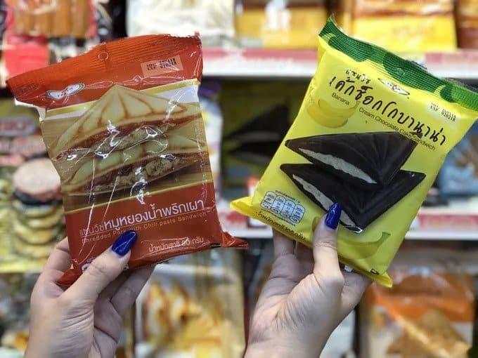 Sandwichs fourrés - 7-Eleven Thailande - que faire en thailande