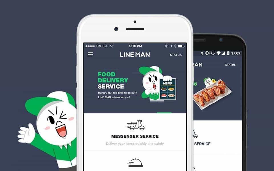 Line Man Food - application livraison repas pour Bangkok - application pour la thailande - que faire en thailande