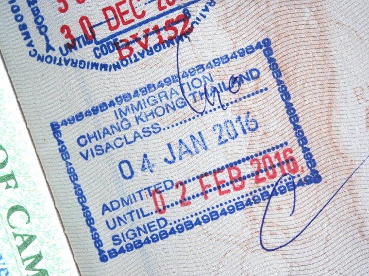 Tampon passeport Thaïlande