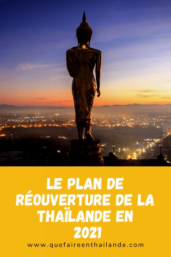 Le plan de réouverture de la Thaïlande pour 2021 - que faire en thailande